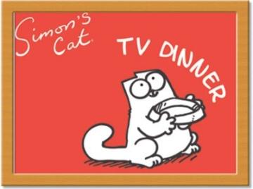 Castle Melamin Simon 's Cat TV Dinner Kissen Knietablett -