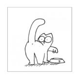 SIMON 's Cat-Cat & Schüssel -