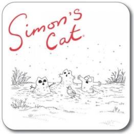 SIMON 's Cat Untersetzer-Fake Schneemann -