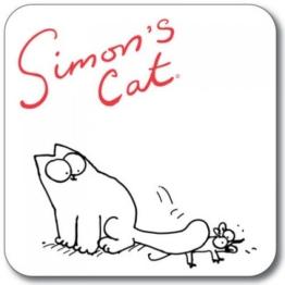 SIMON 's Cat Untersetzer-Maus unter Schwanz -