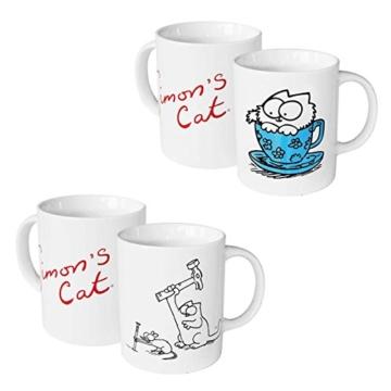 Simons Cat Kuschelbecher Kaffeebecher Hammer Babykatze 2er Pack Geschenk JEB -