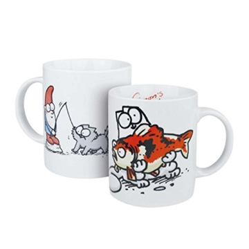 Simons Cat Kuschelbecher Kaffeebecher Katze Fisch und 20 Servietten Geschenk JEB -