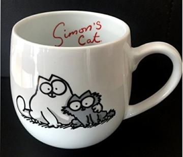 """Simon´s Cat Porzellan Kaffeebecher """"Friends"""" -"""