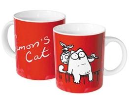"Simon´s Cat Tasse Kaffeebecher ""Zaunkönig"" Keramik -"