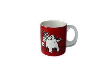 Simon´s Cat Tasse Zaunkönig rot -