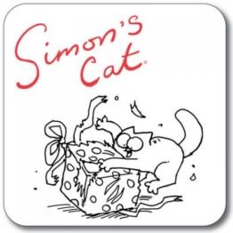"""Untersetzer """"Simon's Cat""""–Geschenk aufmachen -"""