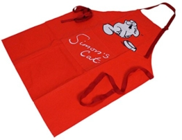 Simon's Cat Küchenschürze/ Grillschürze rot